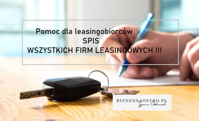 Koronawirus. Spis wszystkich firm leasingowych iprogramów pomocy dla leasingobiorców [AKTUALIZACJA]