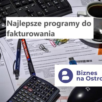 Najlepszy program dowystawiania faktur online iparagonów dla małej firmy usługowej idla samozatrudnionego